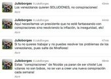 """Borges a Maduro: """"Si tú no quieres trabajar ni resolver..."""