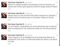"Capriles llama ""cobardón"" y ""chimbón"" a ..."