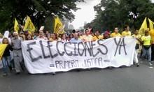 Diputados de Primero Justicia toman la autopista Francisco F...